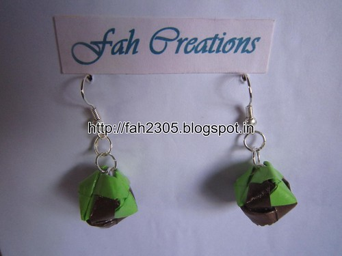 Handmade Jewelry - Origami Paper Box Earrings (Small) (5) by fah2305