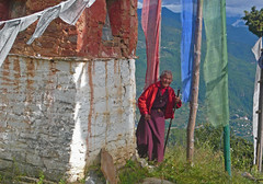 old nun at the chorten