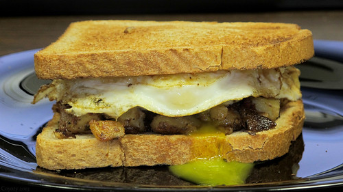 Corned beef hash and egg sandwich by Coyoty