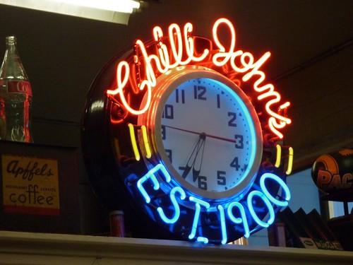 Chili John's - Burbank, CA Neon Clock