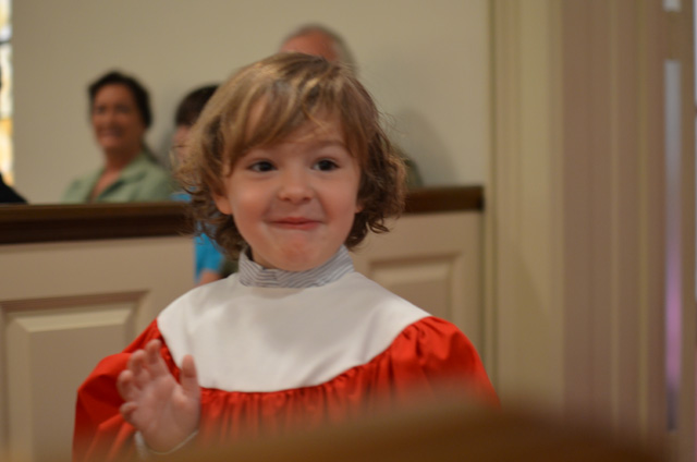 Hudson's 1st performance with the FUMC Cherub Choir