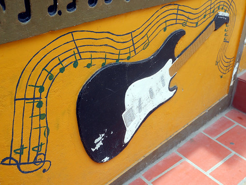 Music store in Guatapé, Colombia