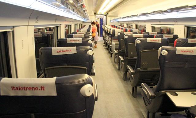 Andando de trem na Itália - Italo