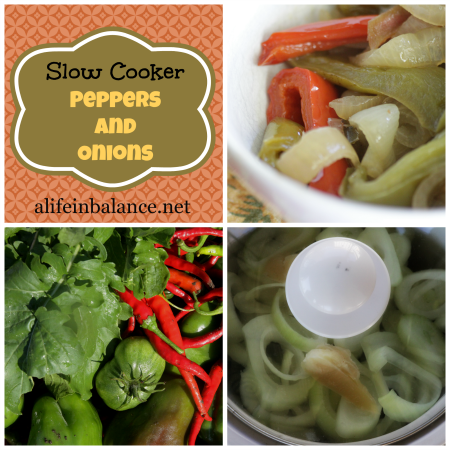 Slow Cooker: Peppers and Onions