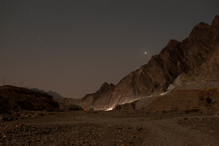 under the stars, in hatta mountain's,  wadi al khamis!!
