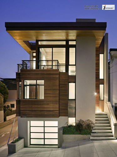 Simple Two Levels Floor Contemporary House Designs Flat Roof