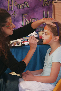 Henna Face Painting at LEAF Oct 2013