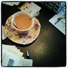 doing the home books is made far more pleasant when coupled with a pretty tea cup.