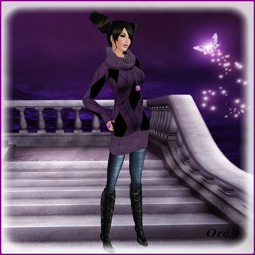 Flair purple for avagirl by Orelana resident