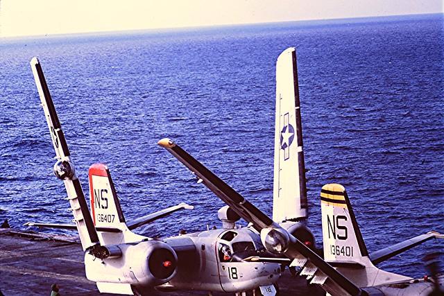 USS Kearsarge~~~S2 Trackers  12/1963