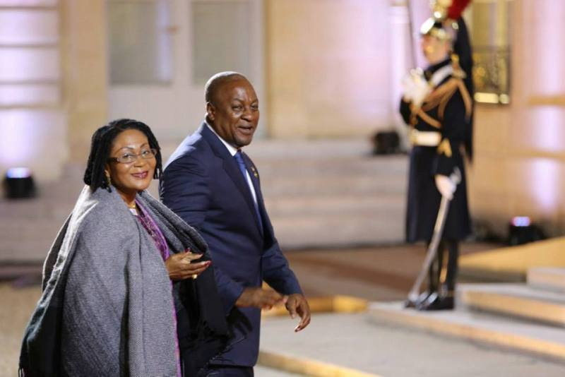John Mahama & Wife Lordina @ Elysee Peace Summit