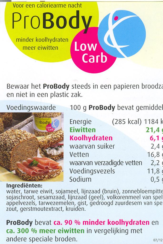 minder koolhydraten meer eiwitten