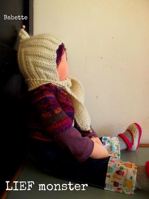 Custom knit Pixie hat