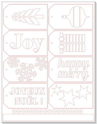 Christmas Tags - free Silhouette cut file