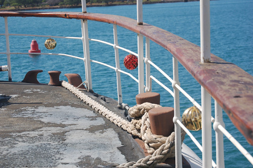 baubles poop deck rail