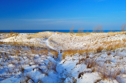 travel lake snow seascape color beach nature grass sunrise landscape sand nikon exposure michigan dunes lakemichigan greatlakes lakeshore polarizer circular d5100
