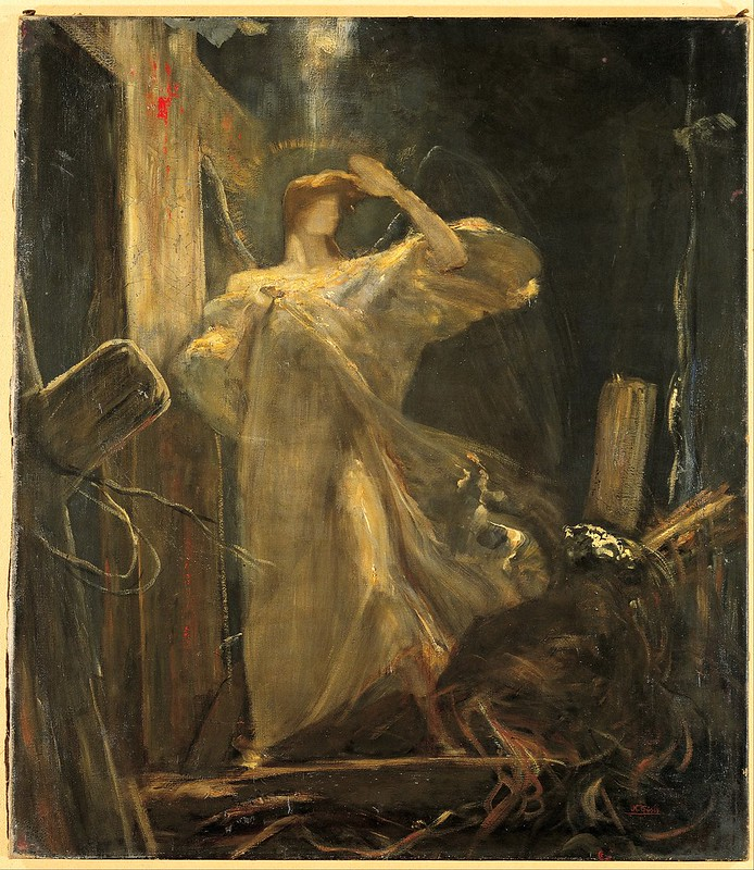 Nikolaos Gyzis - Archangel, study for the Foundation of the Faith (c.1894)