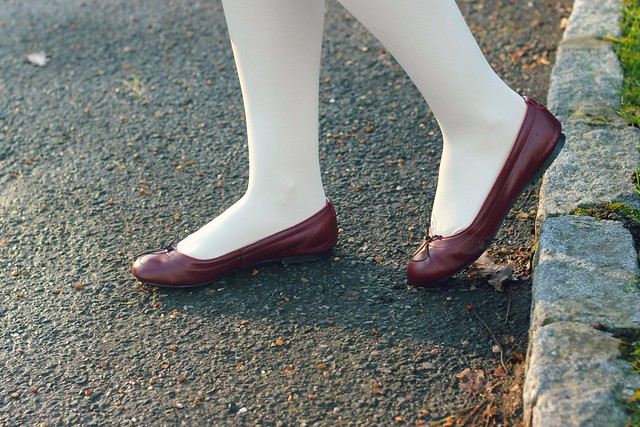 Coco Rose Burgundy Ballet Shoes