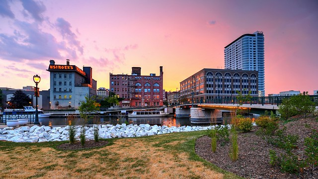 Summer Sundown at the Milwaukee River