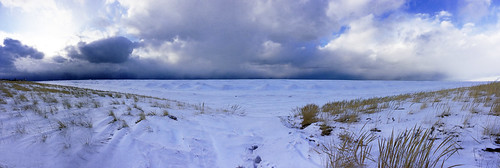 winter sunset panorama lake snow seascape color ice beach nature grass clouds landscape sand michigan dunes stjoseph lakemichigan greatlakes lakeshore iphone