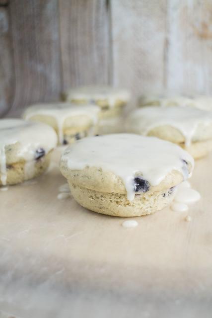 Blueberry Lemon Glazed Muffin Top Donuts_3