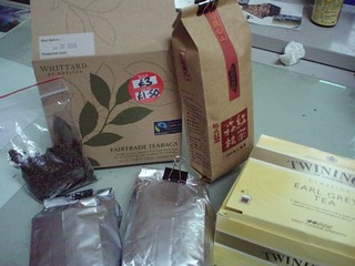 (連喝茶都很講究喔!有著從英國帶回來的公平貿易茶、合樸市集買的有機茶葉、還有奢華難買的森林紅茶)