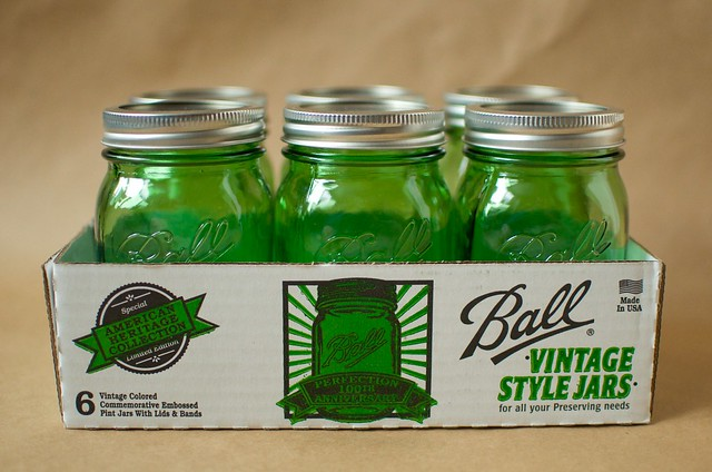 Green Ball Jars