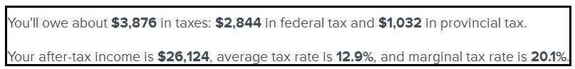Income Tax 30K