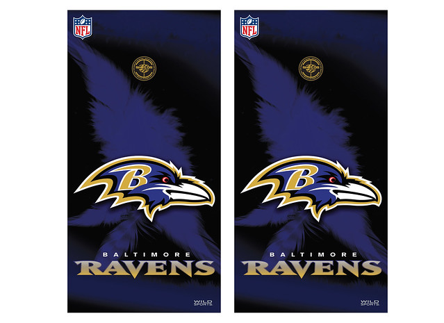 View ProductBaltimore Ravens Cornhole Game Decal Set