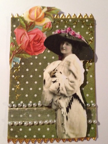 Vintage ATC with pearls by beemgee1
