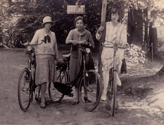 Three Female Cyclists