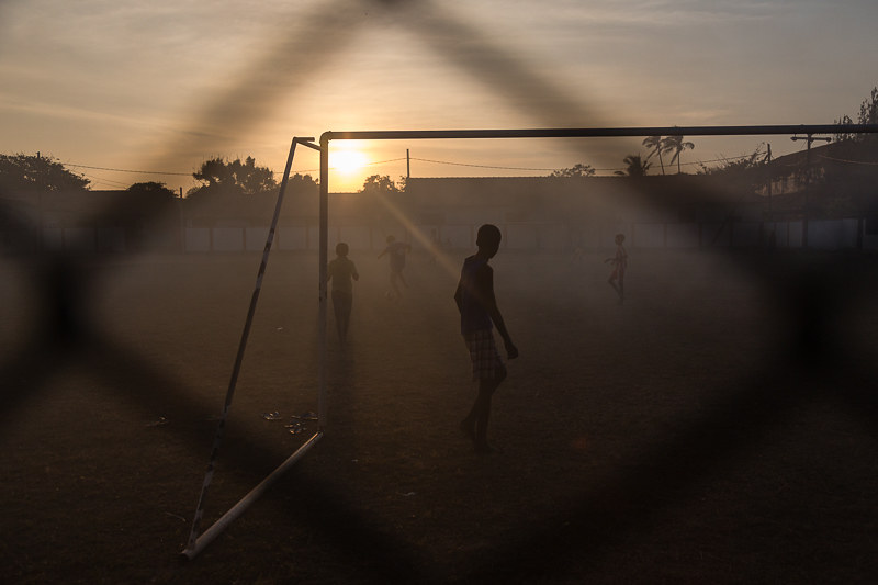 Football practice, Negombo