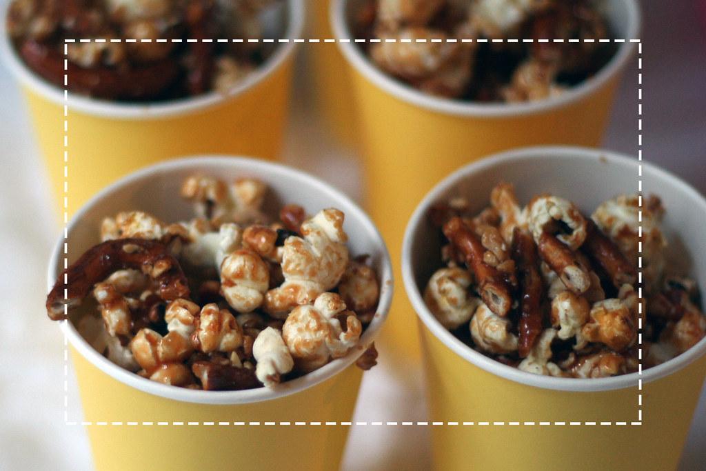 oscar buffet 2014: popcorn mit karamell & salzbrezeln