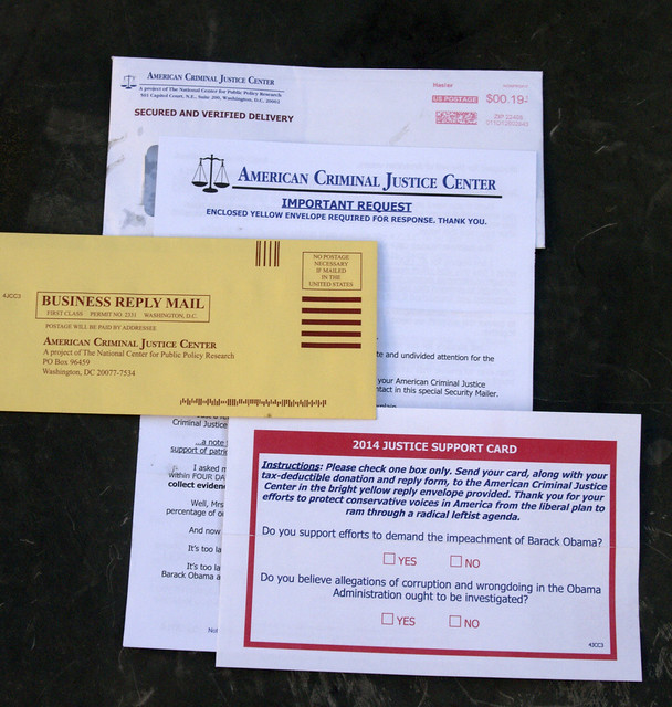 Junk Mail, American Criminal Justice Center, Washington DC