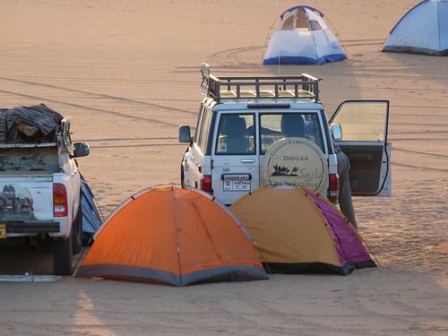 Primer campamento de la Expedición Kamal.