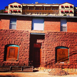"""Jerome Arizona Monopoly Game"" #appearance, #reality, #perception, #jerome, #arizona, #asylum, #urbanillusion, #illusion, #confusion, #brick, #brickbuilding, #grandhotel, #jeromegrandhotel, #paulewing, #zvuchno"