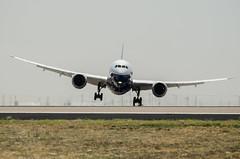 Boeing 787-9 Crosswind Landing