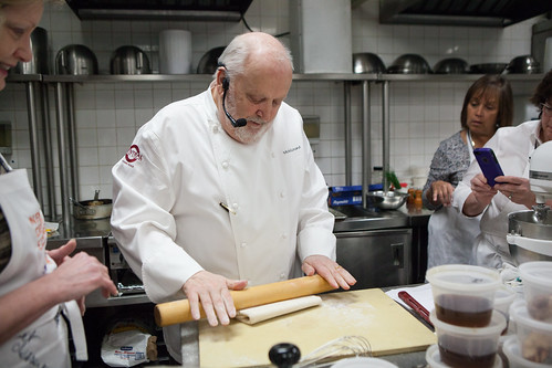 Chef Michel Richard of Villard Michel Richard rolling/demo puff pastry