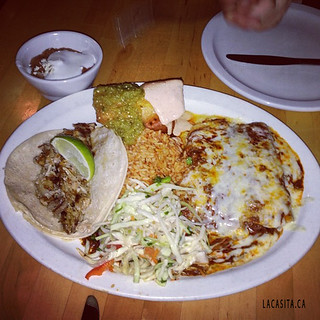 Combo mexican platter for dinner in Vancouver BC