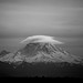 Lenticular Cloud over Mt. Rainier by aaronbrethorst