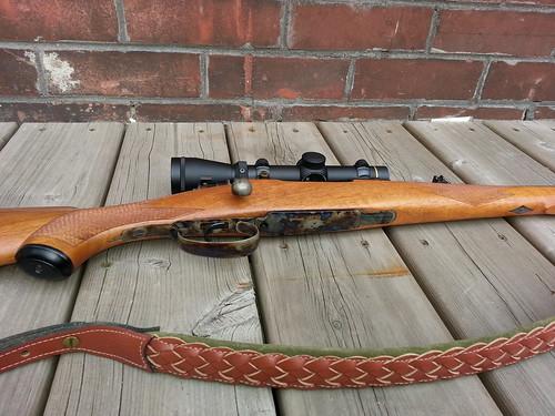 Custom Brno model 21H in 7x57 -- pistol grip, floor plate, trigger guard