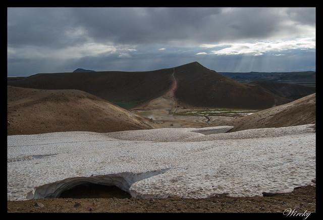 Nieve en Volcán Krafla