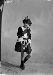 """Young girl identified as """"Matheson"""" in Highland regalia"""