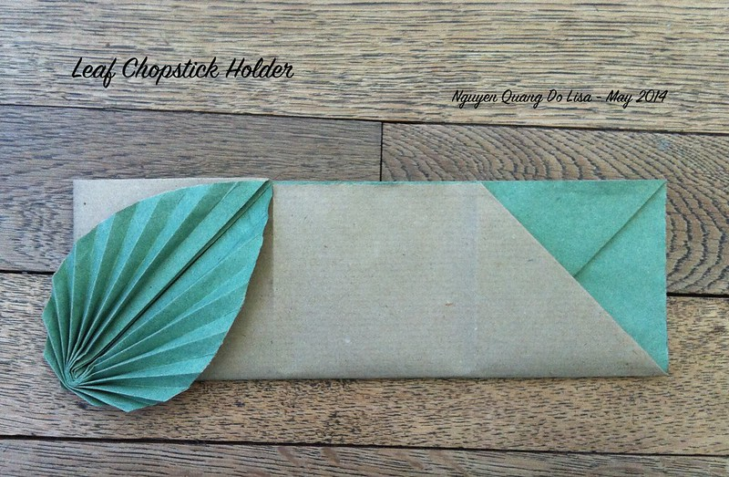 Origami Leaf Chopstick Holder