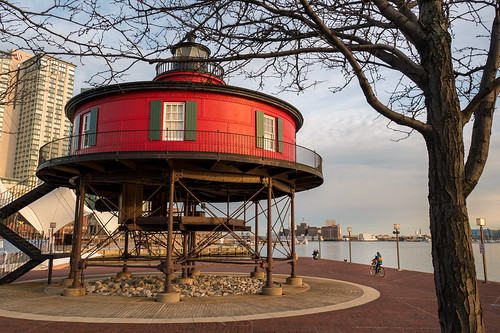 lighthouse landscape sunset nature md baltimore shadeofred red baltimoreinnerharbor treebark outside outdoors bmore usa maryland tree unitedstates dusk us