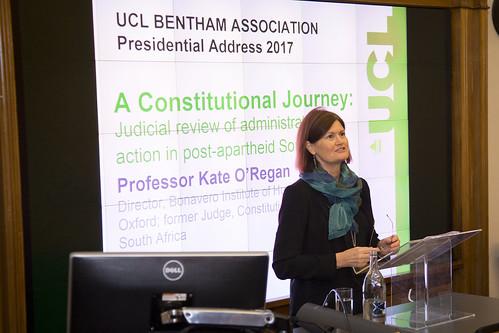2017 Bentham Association Presidential Address and Dinner