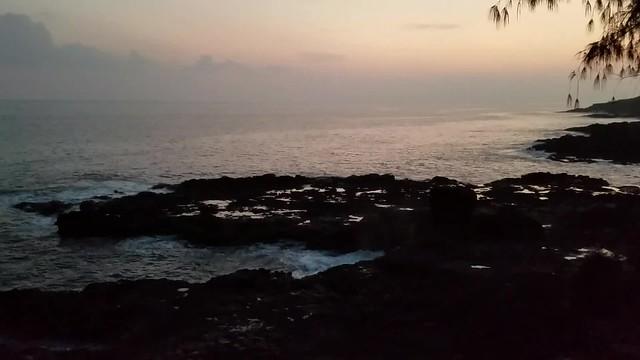 Spouting horn video, evening, Kauai