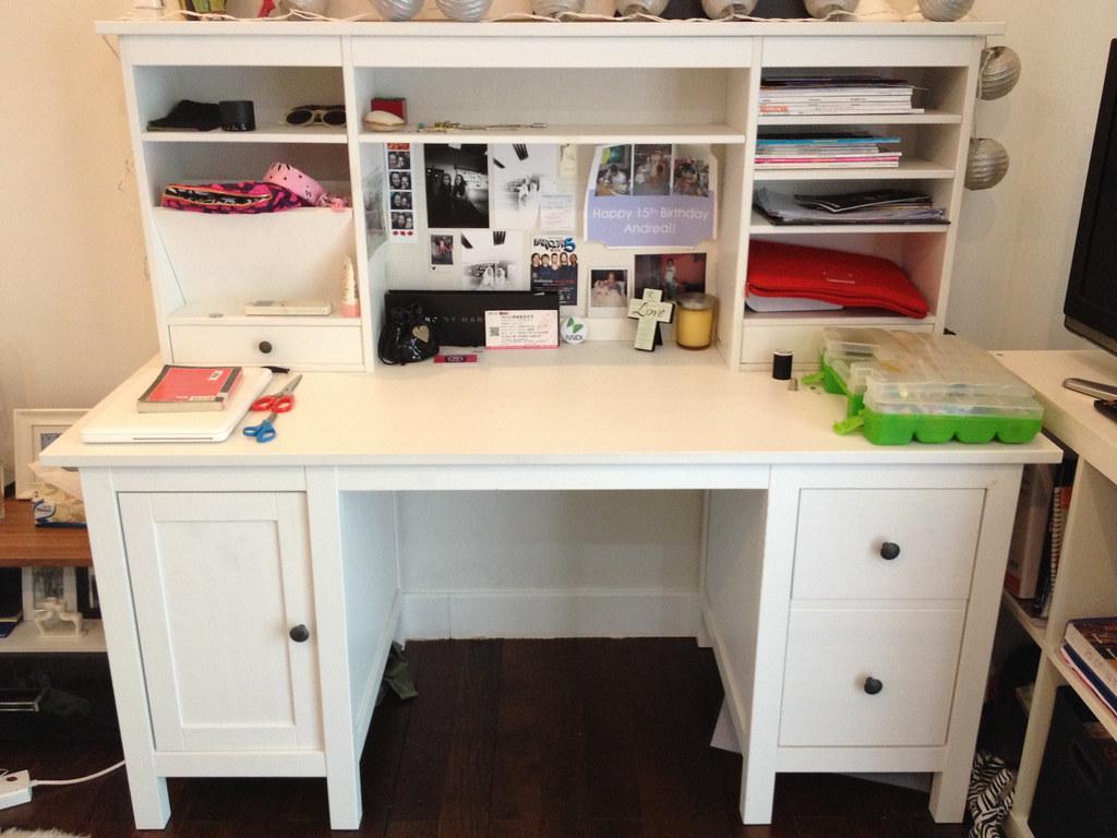 Item ikea hemnes desk add on unit white ikea desku flickr