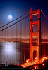 Moonrise over Golden Gate Bridge HDR
