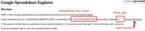 spreadsheet explorer config